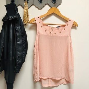 🌸CHARLOTTE RUSSE STUDDED BLOUSE🌸